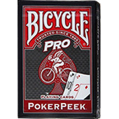 Фотография Карты Bicycle Pro Poker Peek (красные) [=city]